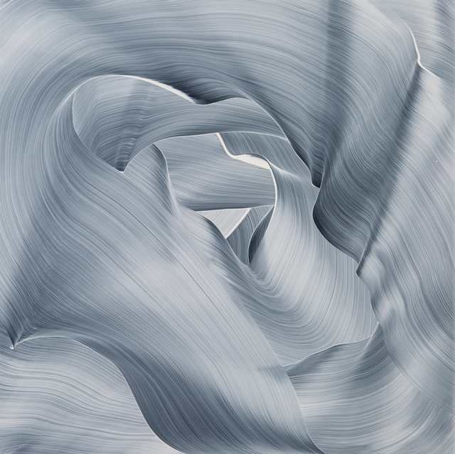 2015, Öl und Acryl auf Plexiglas, 110 x 110 cm